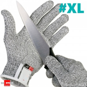 1 Pair Anti-cutting Gloves Safety Cut Proof Stab Resistant Wire Metal Mesh Kitchen Butcher Gloves - XL