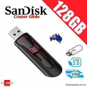 SanDisk Cruzer Glide 128GB 3.0 USB Flash Drive Memory Stick Thumb
