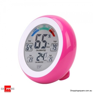Digital Touch Screen Thermometer Hygrometer Temperature Humidity Meter - Rose