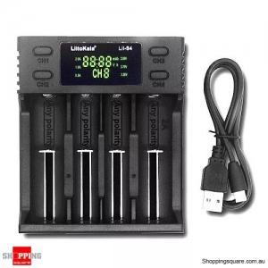 LiitoKala LII-S4 LCD Battery Charger 3.7V 18650 18350 18500 16340 21700 20700B 20700 14500 26650 1.2V AA AAA Smart Charger