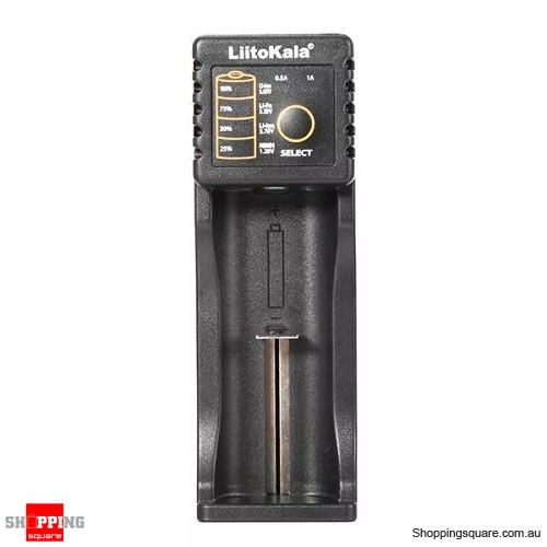 LiitoKala Lii-100 0.5A/1A Li-ion Ni-MH USB Battery Charger with Bulit-in LED Indicator