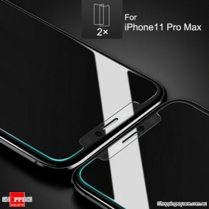 2x NUGLAS 2.5D Clear Tempered Glass Screen Protector for iPhone 11 Pro Max, XS Max