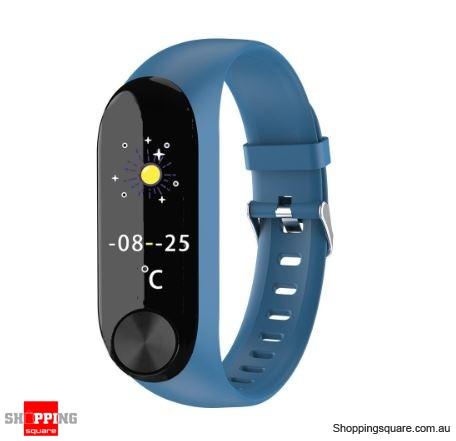 IPS Color Screen Smart Watch Sports Fitness Bracelet - Blue