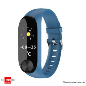 IPS Color Screen Smart Watch Sports Fitness Bracelet - Blue