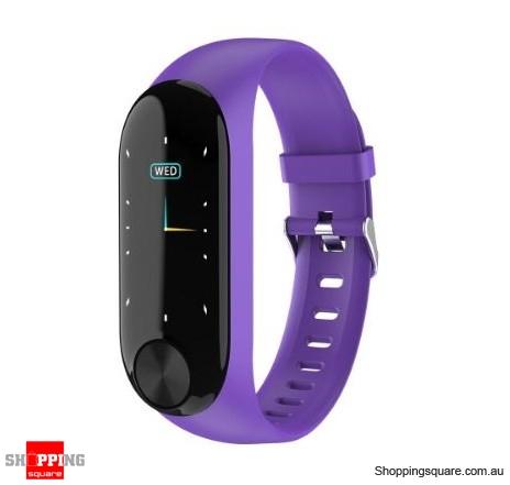 IPS Color Screen Smart Watch Sports Fitness Bracelet - Purple
