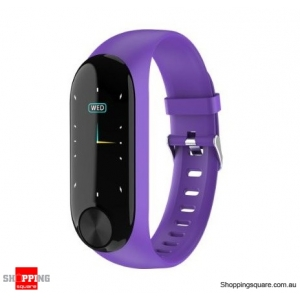 IPS Color Screen Smart Watch Sports Fitness Bracelet - Purple