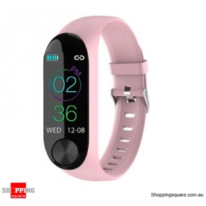 IPS Color Screen Smart Watch Sports Fitness Bracelet - Pink