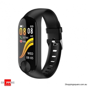 IPS Color Screen Smart Watch Sports Fitness Bracelet - Black