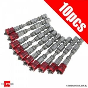10pcs Magnetic 65mm PH2 Screwdriver Bits Set 1/4 Inch Hex Shank Screwdriver Bit