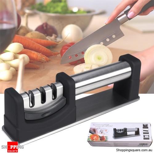 Anti-skid Three-stage Knife Sharpener Base Diamond Kitchen Tool