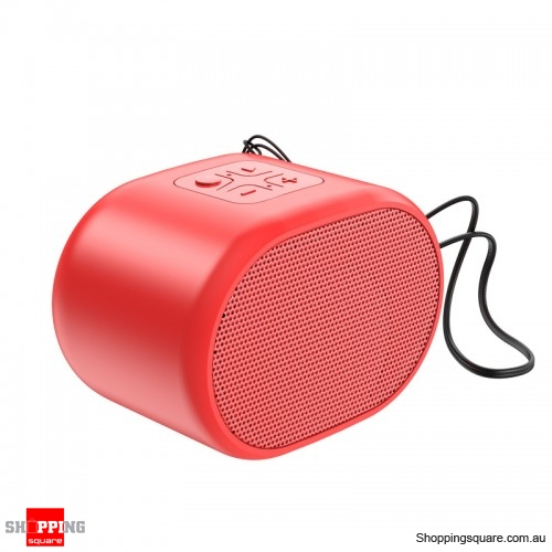 Portable Wireless Mini Bluetooth5.0 Speaker Audio Bass - Red