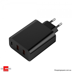Baseus PPS 5A 3 Quick Charge 4.0 3.0 60W EU Charger Adapter - Black