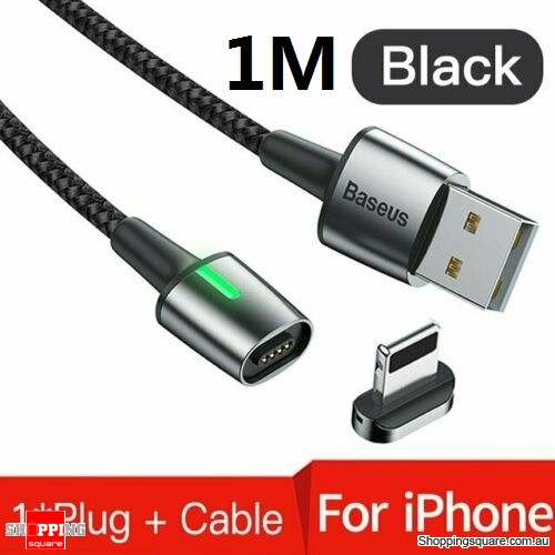 Baseus 1M Magnetic Apple Lightning Cable Fast Charging Data Cable Black