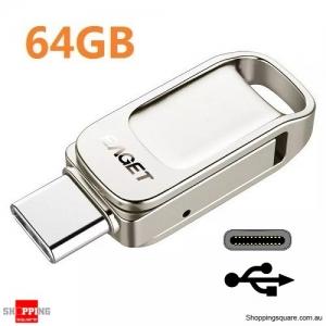 64GB OTG Aluminum Alloy Type-C USB 3.1 Flash Drive Up To 140MB/s