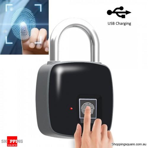 Smart Lock Fingerprint Door Padlock Safe USB Charging Keyless