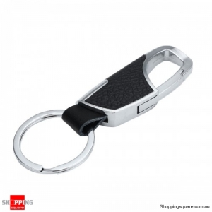 Buckle Carabiner Hook Keychain Key Ring EDC Clip Outdoor - Black