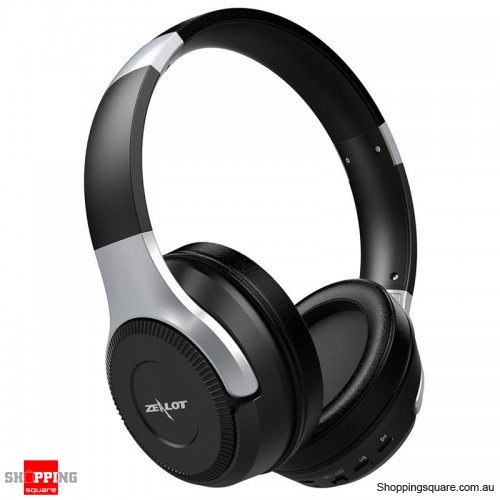 Foldable HiFi Stereo Wireless Bluetooth Headphone Touch Control Headset with Mic - Black + Silver
