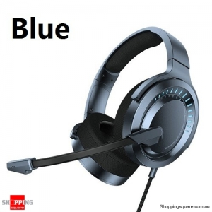 Baseus X Bongiovi Gaming Headphone For PUBG Earphone With Mic 3D Surround Stereo Headset - Blue