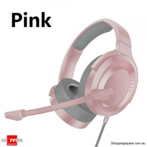 Baseus X Bongiovi Gaming Headphone For PUBG Earphone With Mic 3D Surround Stereo Headset - Pink