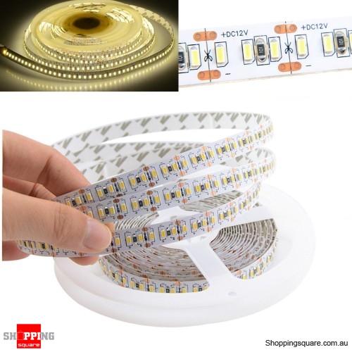 5M 1020LEDs 3014 SMD Non-waterproof LED Strip Light Home Decor DC12V - Warm White