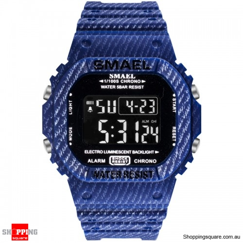 SMAEL 1801 Camouflage Cowboy Style Luminous 5ATM Digital Watch - 1.Navy