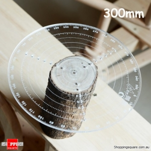 Center Finder Tool Wood-working Compass Clear Acrylic Drawing Circles Diameter -300mm