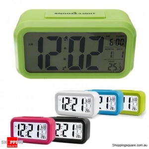 Large LED Digital Alarm Clock Backlight - Green