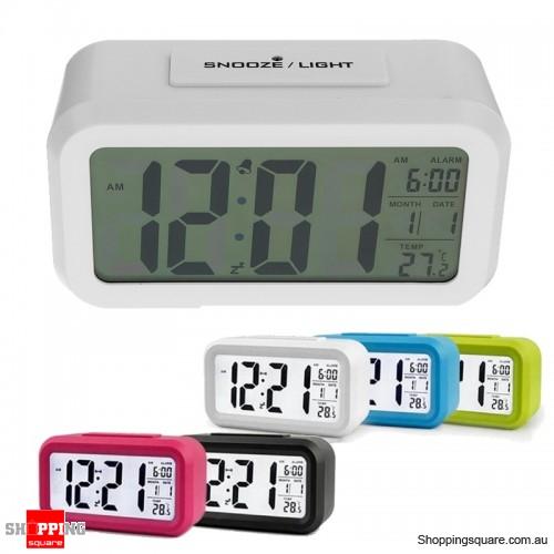 Large LED Digital Alarm Clock Backlight - White