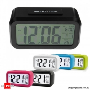 Large LED Digital Alarm Clock Backlight - Black