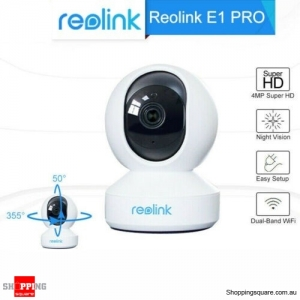 Reolink E1 Pro 4MP WiFi PTZ Security Camera Pan & Tilt 2-Way Audio IP Camera