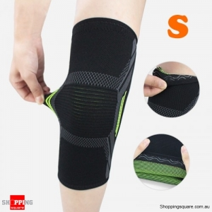 1PC Nylon Elastic Breathable Gym Knee Pad Support Fitness Sports Protective Brace - Small