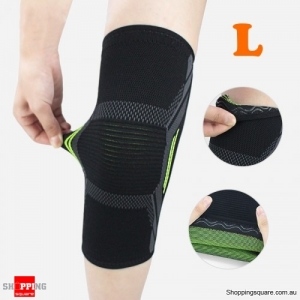 1PC Nylon Elastic Breathable Gym Knee Pad Support Fitness Sports Protective Brace - Large