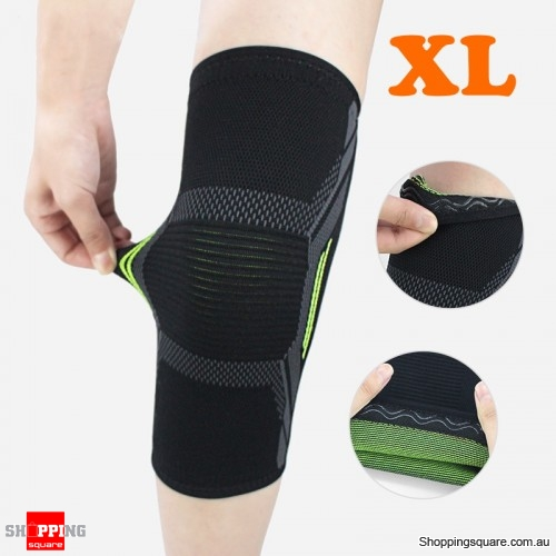 1PC Nylon Elastic Breathable Gym Knee Pad Support Fitness Sports Protective Brace - XL