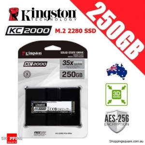 Kingston KC2000 250GB M.2 2280 3D NAND TLC Solid State Drive