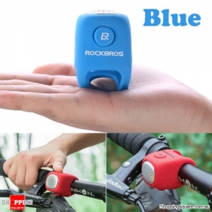 Waterproof Cycling Alarm Bell 90 dB Handlebars Silicone Bike Bells - Blue