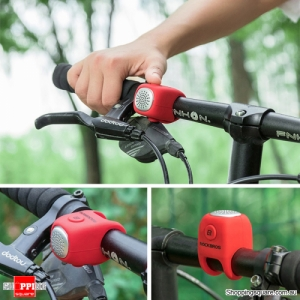 Waterproof Cycling Alarm Bell 90 dB Handlebars Silicone Bike Bells - Red