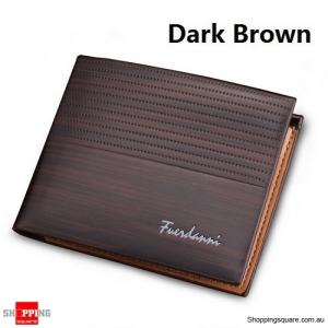 Men's Brown Leather RFID Blocking Anti Theft Wallet Dark Brown Colour