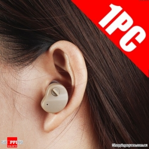 1pc Portable Digital Hearing Aid Enhancer Mini In-Ear Sound Voice Amplifier