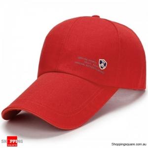 Adjustable Baseball Cap Buckle Hip-Hop Snapback Cap - Red