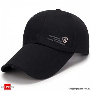 Adjustable Baseball Cap Buckle Hip-Hop Snapback Cap - Black