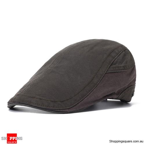 Outdoor Summer Beret Hat Solid Newsboy Cabbie Flat Caps - Green
