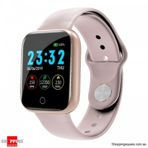 Waterproof IP67 Health Monitor Watch Smart Bracelet - Pink