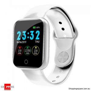 Waterproof IP67 Health Monitor Watch Smart Bracelet - White