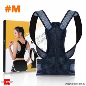 Adjustable Back Posture Corrector Back Brace Shoulder Posture Correction Belt Pain Relief - Medium