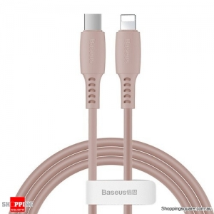 Baseus PD USB C to Lightning Fast Charging Cable 18W USB Charger Cable for iPhone 11 XR X Max Data Cord Pink Colour
