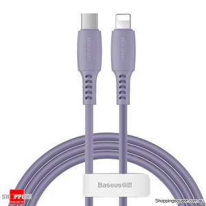 Baseus PD USB C to Lightning Fast Charging Cable 18W USB Charger Cable for iPhone 11 XR X Max Data Cord Purple Colour