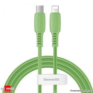 Baseus PD USB C to Lightning Fast Charging Cable 18W USB Charger Cable for iPhone 11 XR X Max Data Cord Green Colour