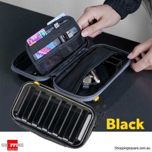 Baseus Waterproof Digital Bag USB Cable SD Card Storage Bag Pouch Organizer Bag - Black