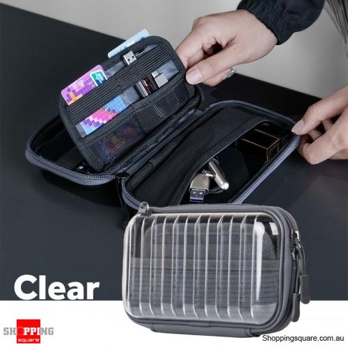 Baseus Waterproof Digital Bag USB Cable SD Card Storage Bag Pouch Organizer Bag - Clear