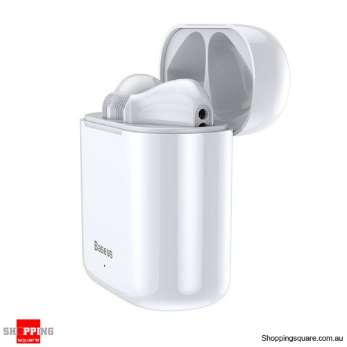 Baseus W09 TWS Wireless Bluetooth Earphone Intelligent Touch Control Wireless TWS Earphones With Stereo bass sound White Colour